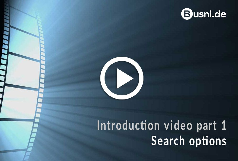 Introduction video part 1 – Search options