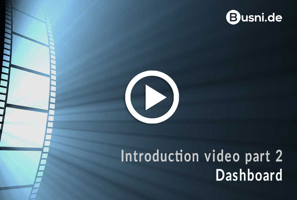 Introduction video part 2 – Dashboard